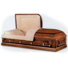 Norwood Appalachian Oak cremation casket