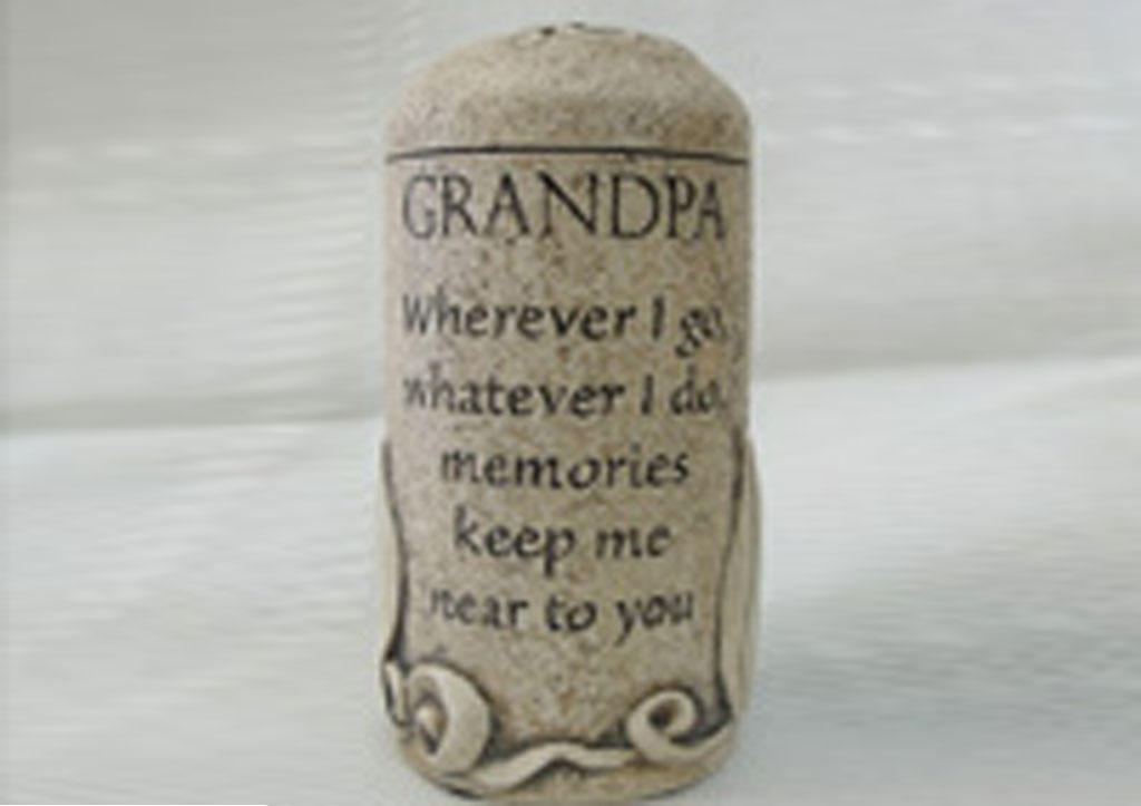 Grandpa Cultured Stone Keepsake